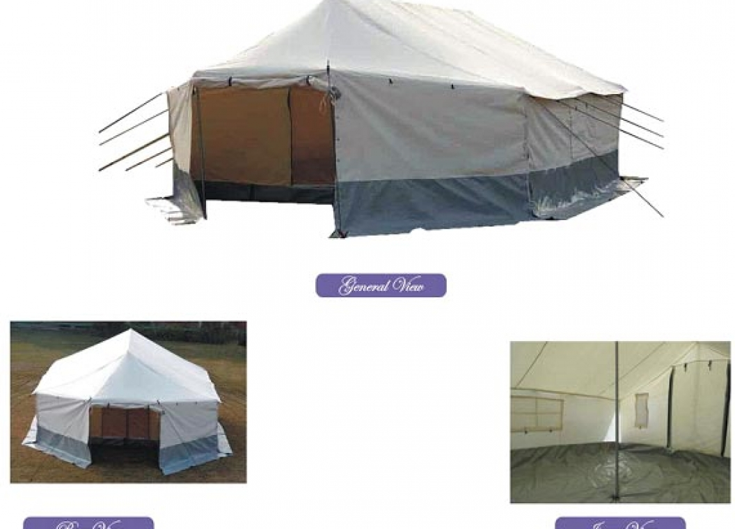UNHCR/PAKISTAN RED CRESCENT TYPE OLD VERSION ALL WEATHER FAMILY TENT